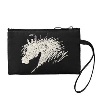 Abstract Horse Head art Change Purses