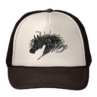 Abstract Horse Head art Cap