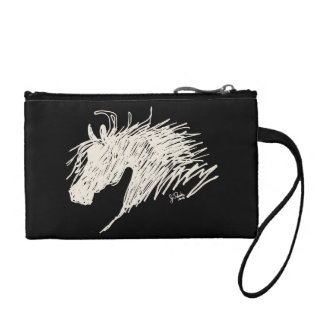 Abstract Horse Head art Coin Wallet