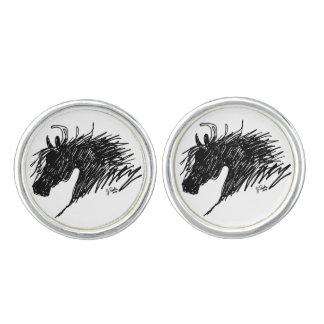 Abstract Horse Head art Cufflinks