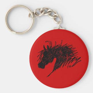 Abstract Horse Head art Key Ring