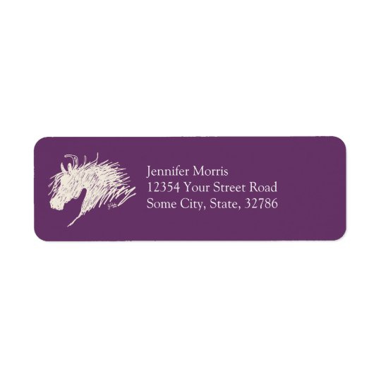 Abstract Horse Head art Return Address Label