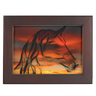 Abstract horse keepsake box