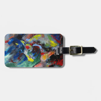 Abstract Horse Luggage Tag