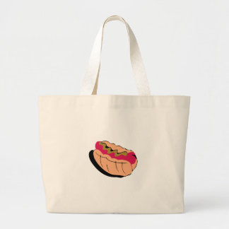 Abstract Hot Dog Tote Bags