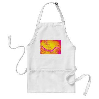 Abstract 'Hot pink' apron