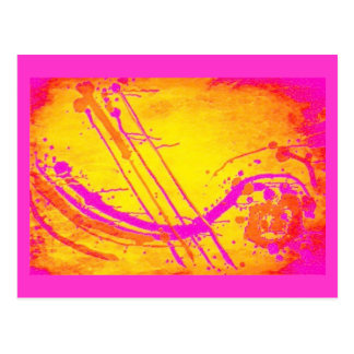 Abstract 'Hot pink' postcard