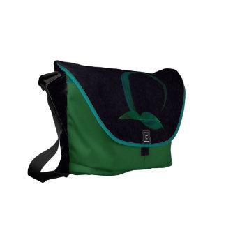 Abstract Hummingbird Messenger Bags