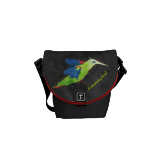 Abstract Hummingbird Mini Messenger Bag
