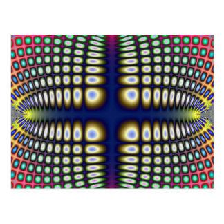 Abstract Hypnotic Design Polka Dots Fractal Post Cards
