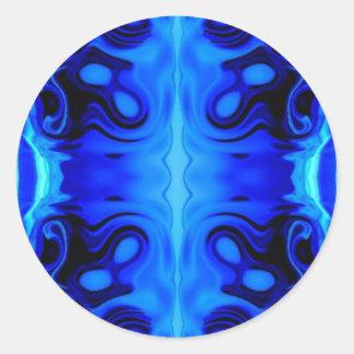 Abstract Ice Round Sticker