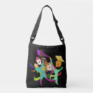 Abstract Ideas Carnival Dancers Crossbody Bag