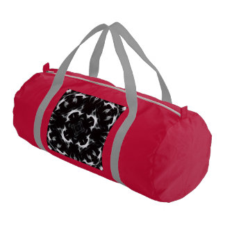Abstract illusion -BW-RED- Duffle Gym Bag Gym Duffel Bag