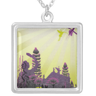 Abstract Illustration 2 Silver Plated Necklace