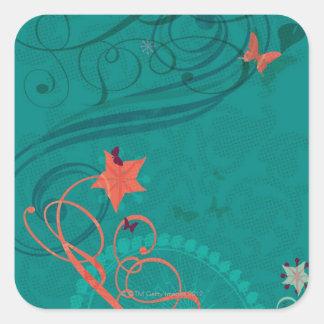Abstract Illustration Square Sticker