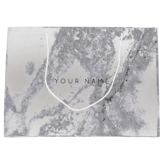Abstract ilver Gray Blush Marble Metallic Gift Large