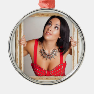 Abstract image of a beautiful woman. christmas ornament