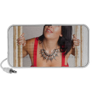 Abstract image of a beautiful woman. notebook speaker