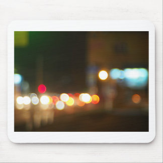 Abstract image of a night city scene mouse pad