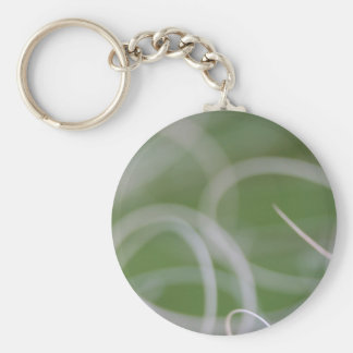 Abstract Image of Green Palm Leaves Keychains