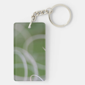 Abstract Image of Green Palm Leaves Acrylic Key Chain