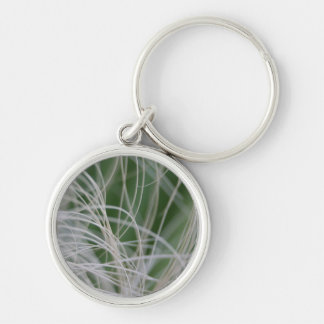 Abstract Image of Tropical Green Palm Leaves Keychains