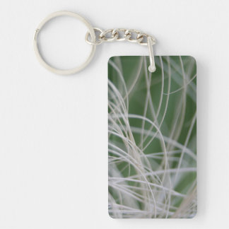 Abstract Image of Tropical Green Palm Leaves Key Chains