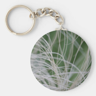Abstract Image of Tropical Green Palm Leaves Key Chain