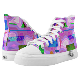 Abstract image  pink colourful high tops