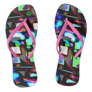 Abstract image vivid  colours flips flops flip flops