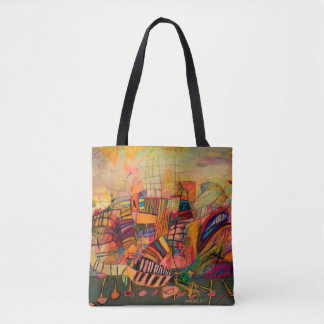Abstract image with bright colours tote bag