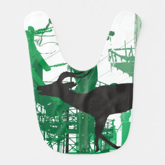 Abstract Impala Baby Bib