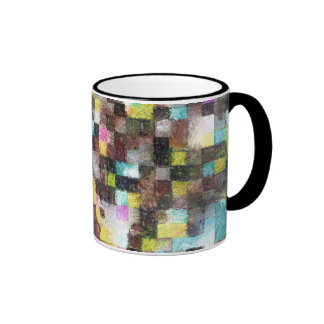 Abstract Impressionist Watercolor Geometry 49-1 Ringer Mug