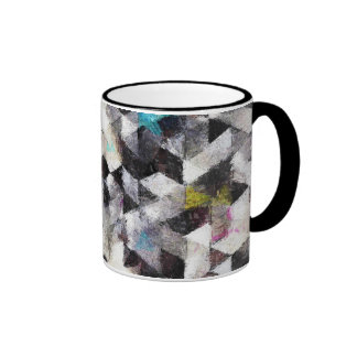 Abstract Impressionist Watercolor Geometry 50-1 Ringer Mug