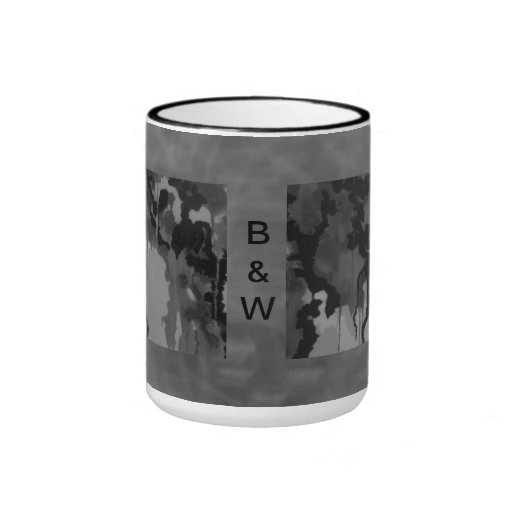 Abstract In Black And White Mug