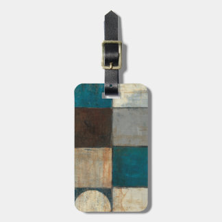 Abstract in Blue and Brown Bag Tag