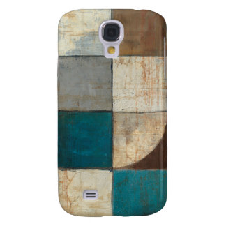 Abstract in Blue and Brown Galaxy S4 Case