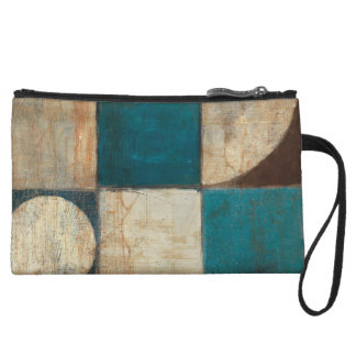 Abstract in Blue and Brown Wristlet