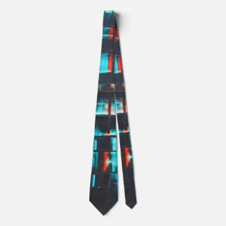 Abstract in Blue and Red Tie