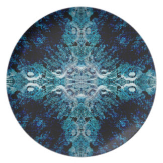 Abstract in Blue and Teal. Some soft edges. Plate