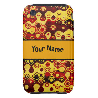 Abstract in Fiery Colors Tough iPhone 3 Cover