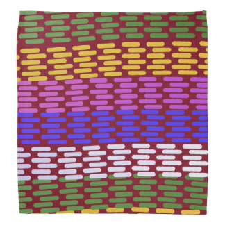 Abstract in Green, Red, Gold, Pink, and Blue Bandanas