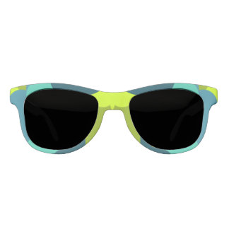 Abstract in green sunglasses