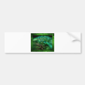 Abstract In Greens Bumper Sticker