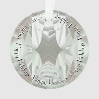Abstract in Icy White with Shades of Pink Ornament