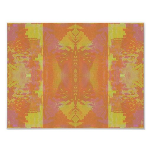 Abstract in Orange and Yellow Print