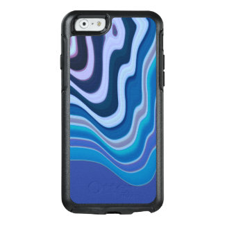 Abstract in purple, blue, and white OtterBox iPhone 6/6s case