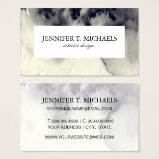 Abstract ink painting on grunge paper texture. business card