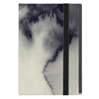 Abstract ink painting on grunge paper texture. iPad mini case