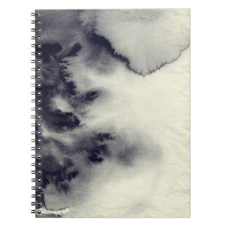 Abstract ink painting on grunge paper texture. notebook